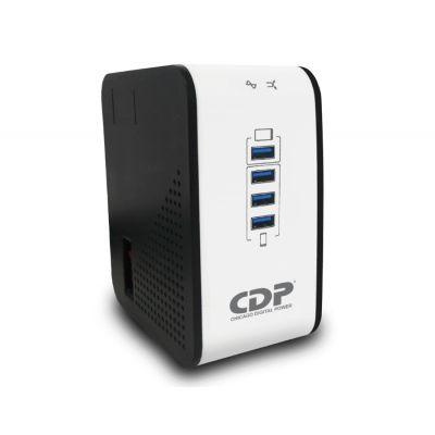 REGULADOR CDP R2CU-AVR1008 1000VA 8 CONTACTOS, 4 USB DE RECARGA