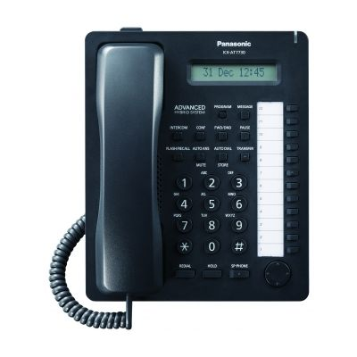TELEFONO ANALOGO PROPIETARIO PANASONIC LCD ALTAVOZ KX-AT7730XB NEGRO