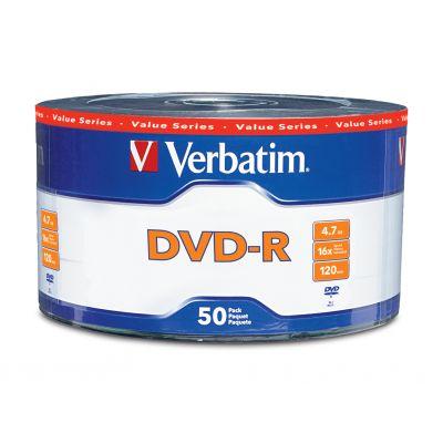 TORRE 50 DISCOS DVD-R VERBATIM 120min 4.7GB CADA DISCO