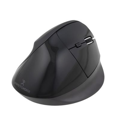 MOUSE VERTICAL ERGONOMICO PERFECT CHOICE V-MOUSE NEGRO