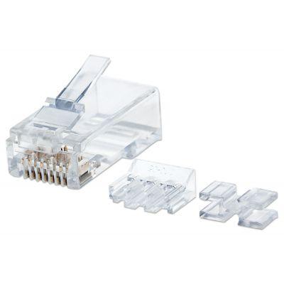 PLUG MODULAR INTELLINET PRO CAT6 RJ45 UTP SOLIDO 80 PZS ORO 790536