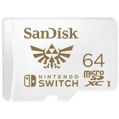 MEMORIA MICRO SDXC SANDISK UHS-I NINTENDO 64GB SDSQXAT-064G-GNCZN