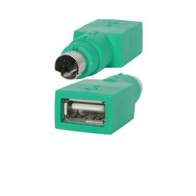 ADAPTADOR STARTECH PS/2 MACHO A USB A HEMBRA VERDE GC46FM