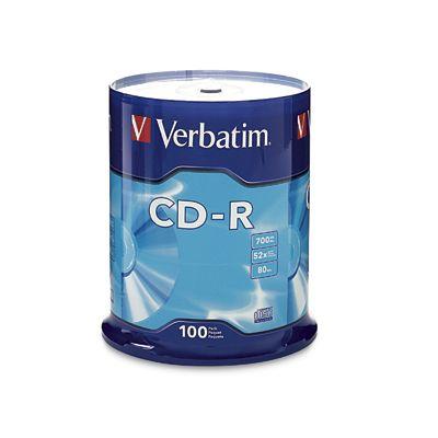 DISCO COMPACTO VERBATIM CDR 52X 700MB TORRE 100PIEZAS VB94554