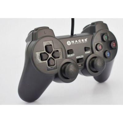 GAMEPAD USB NACEB CON VIBRACION PLUG&PLAY NA-0917