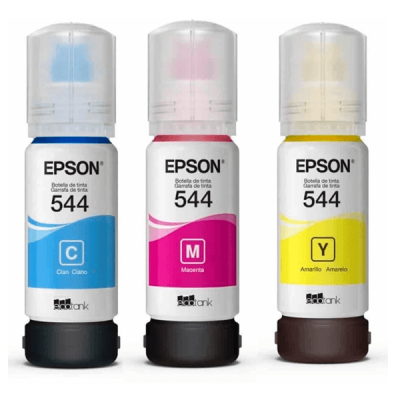KIT BOTELLAS DE TINTA EPSON T544 3 COLORES CMY