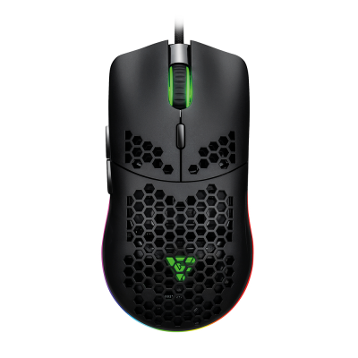 MOUSE GAMER GAME FACTOR MOG501 CLICK LÁSER 6200 DPI RGB NEGRO